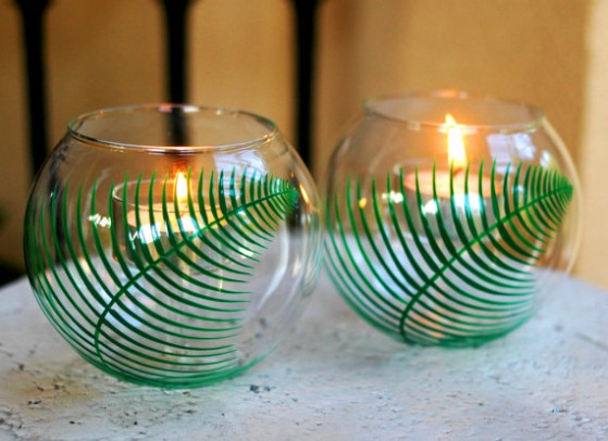 hand-painted votives