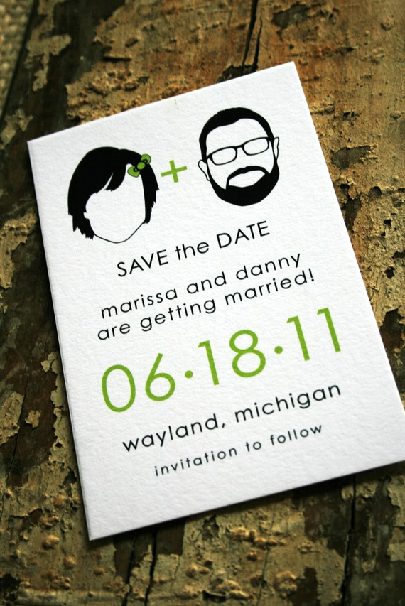 handmade save the dates