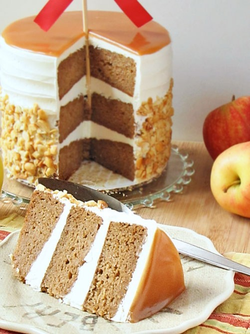 caramel apple wedding cake