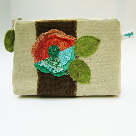 nature-inspired bridesmaid clutch
