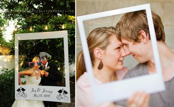 polaroid wedding idea - polaroid photo booth