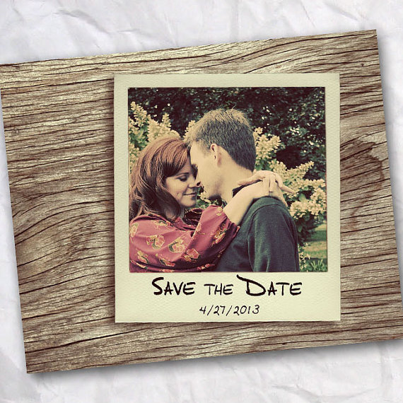 polaroid wedding ideas - polaroid save the date