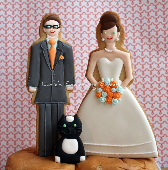cookie cake topper with cat