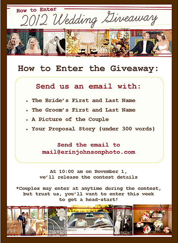 2012 wedding giveaway