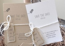 burlap save the date