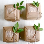 wrap with kraft paper