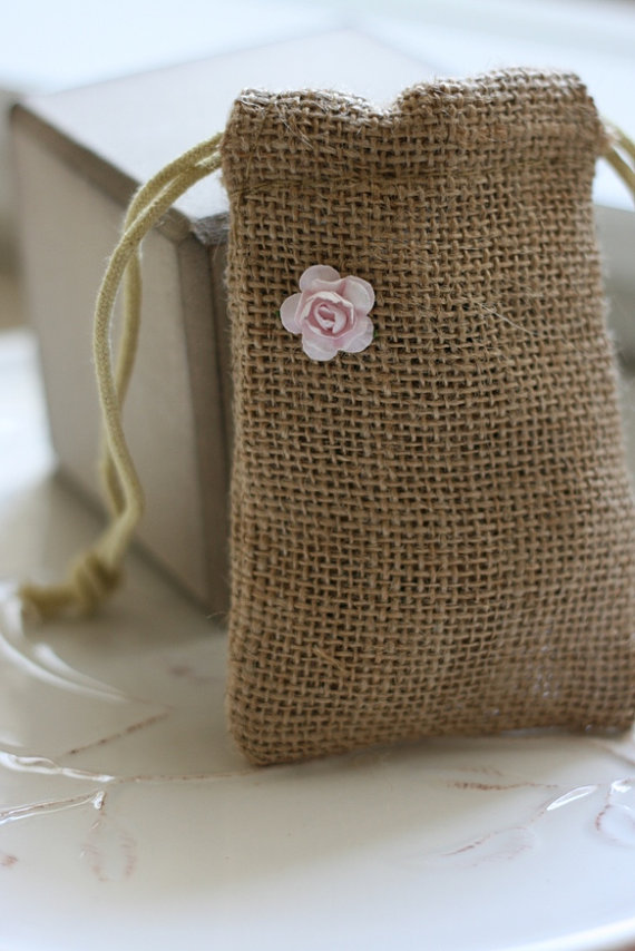 wedding burlap favor bags