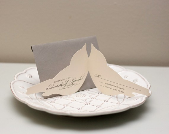 Bird Wedding Invitation: Bird Themed Wedding - Handmade Wedding