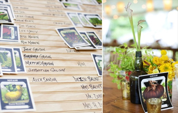 escort card seed packets