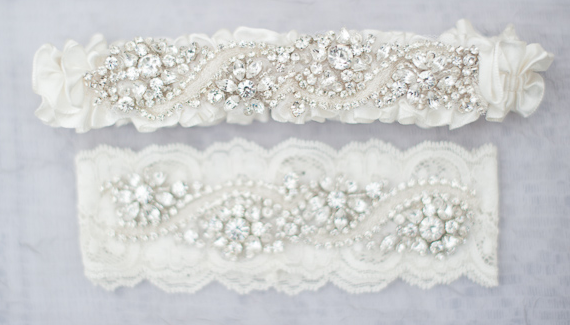 handmade wedding garters