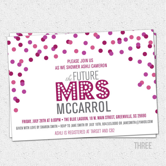 printable bridal shower invites