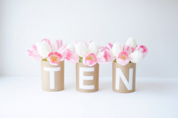 kraft paper table number diy