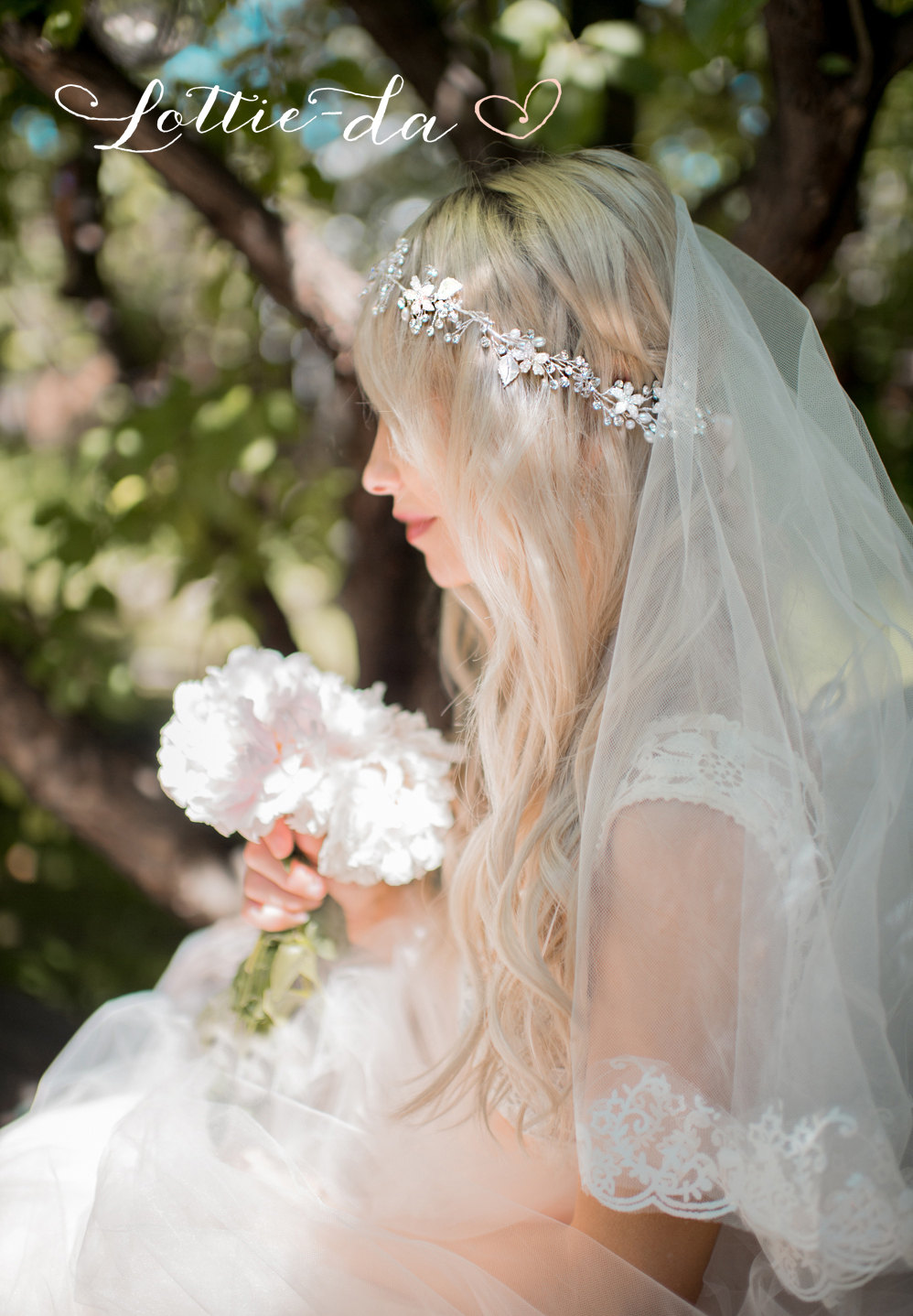 bridal headpieces worn with a veil