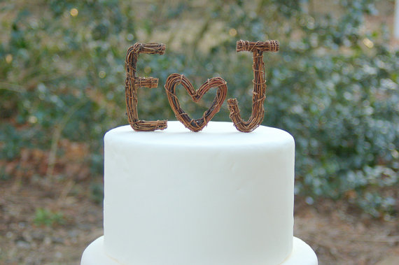 twig cake topper