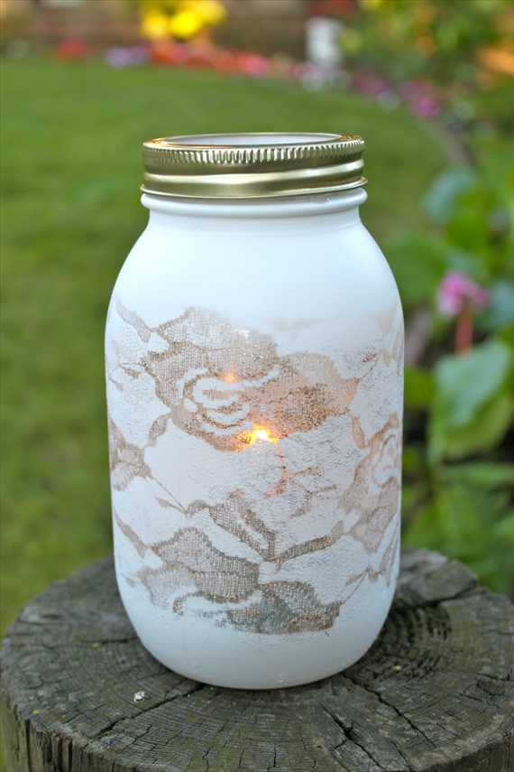 mason jars painted - photo #21
