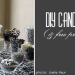 diy wedding candy buffet