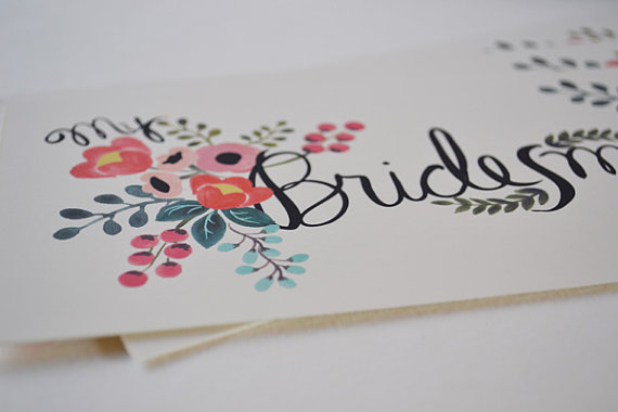 bridesmaid update card