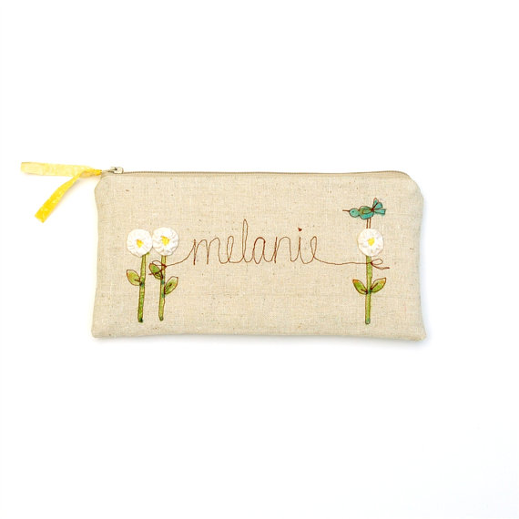 personalized wedding clutch