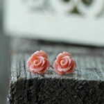 post earrings - handmade wedding