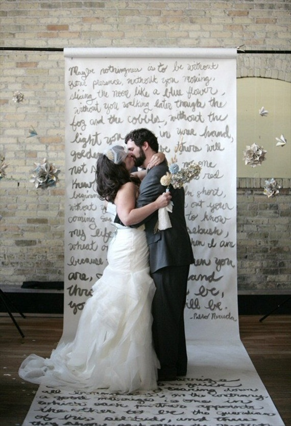 ceremony backdrops words written paper roll 7 Most Inspiring Ceremony Backdrops