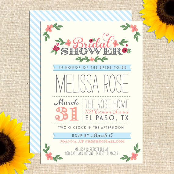 Free Printable Bridal Shower Invitation: Giveaway!