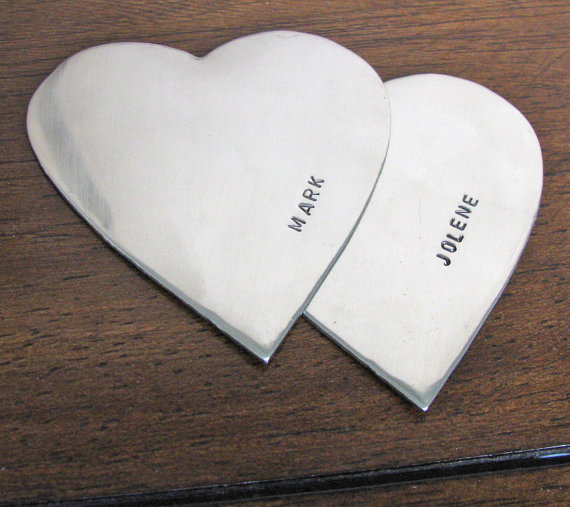 heart duo cake topper