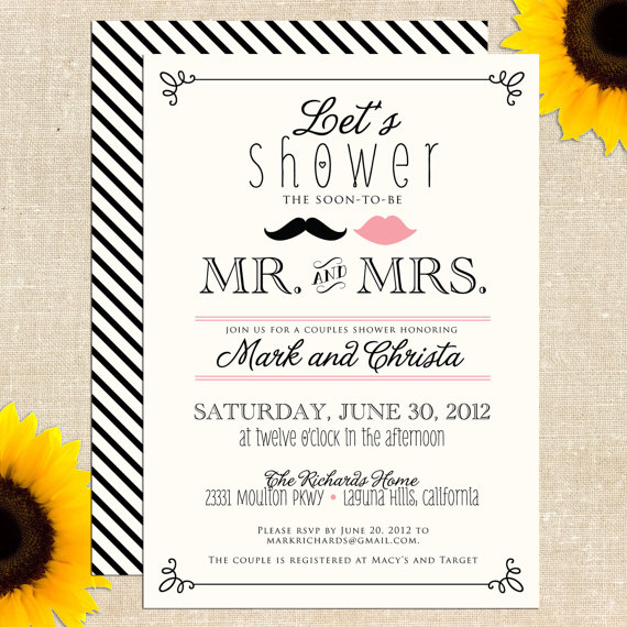 Geeky image with free printable wedding shower invitations