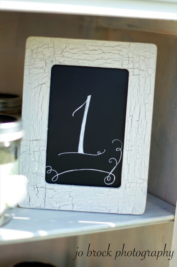 shabby chic wedding table number display