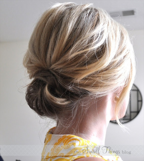 short hair updo (by the small things blog)