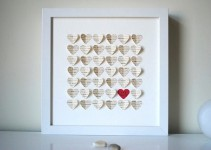 3d wedding gift white frame