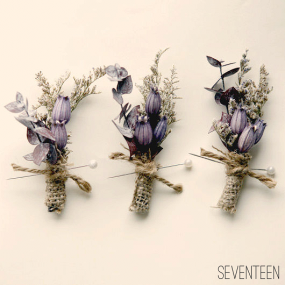bohemian wedding boutonnieres