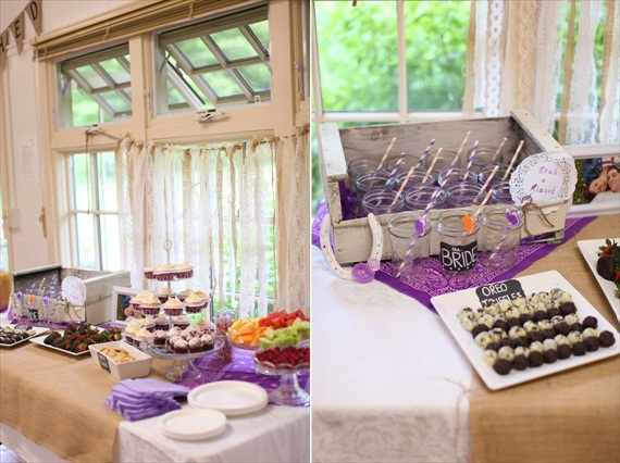 bridal shower dessert bar