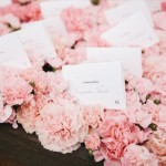 escort card ideas - carnations