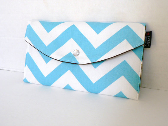 chevron clutch purse