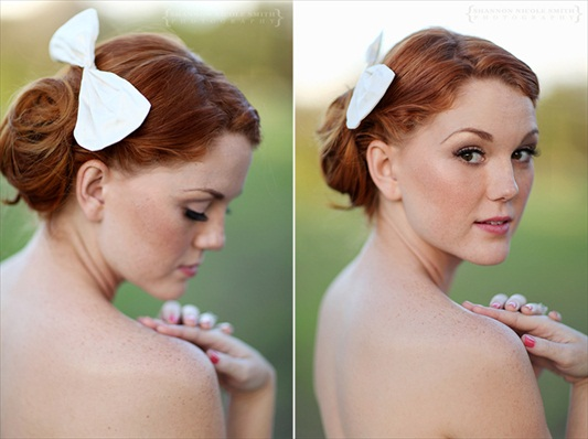 silk bridal bow