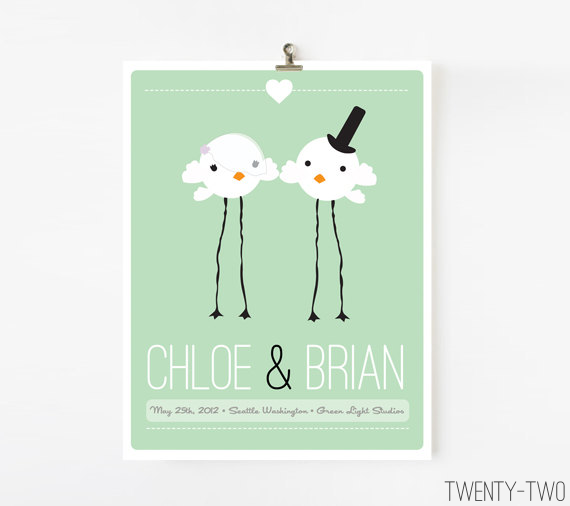 bird wedding guestbook alternative