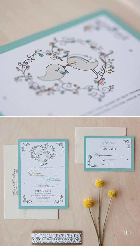 bird wedding invitations