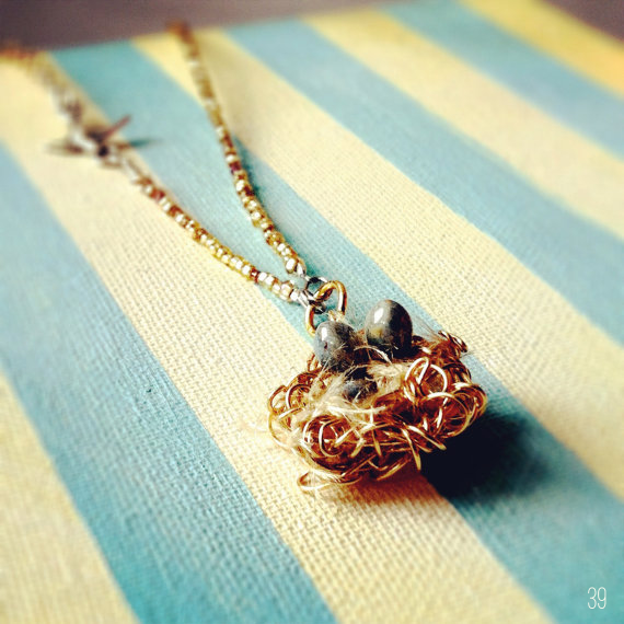 bird wedding necklace