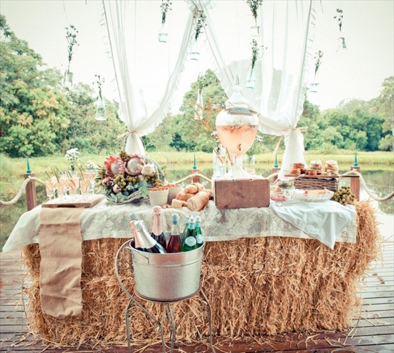 diy champagne bar