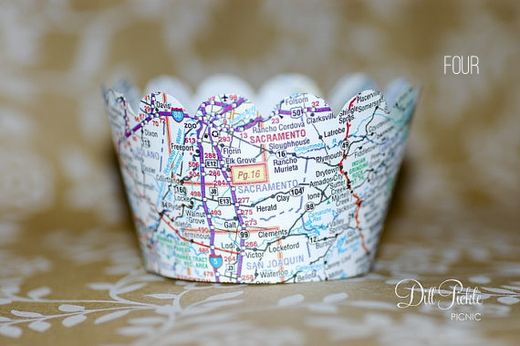map cupcake wrappers