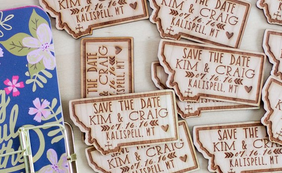 save the date state magnets