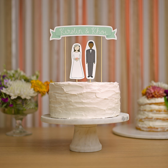 Totally unique wedding cake toppers you wish you thought of first cake banner junglespirit Image collections
