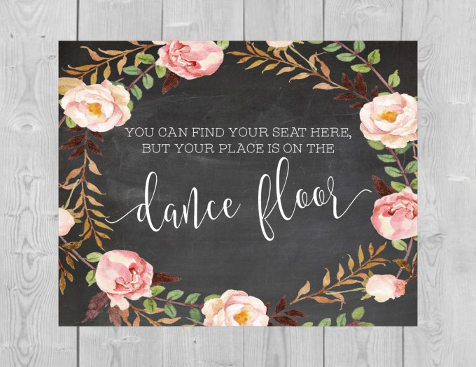 seating dance floor sign by serenitynowstudio