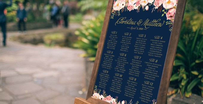 wedding seating chart top image by aquariusds