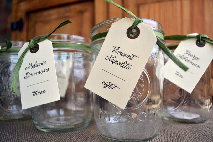 Mason Jar Drinking Mug Name Tags By Papel Lindo Them Here