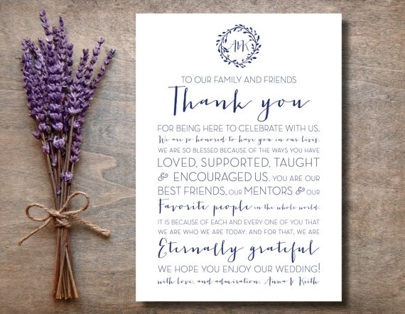 thank you wedding sign