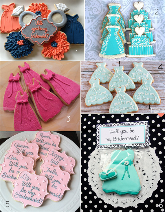 Will you be my bridesmaid cookies