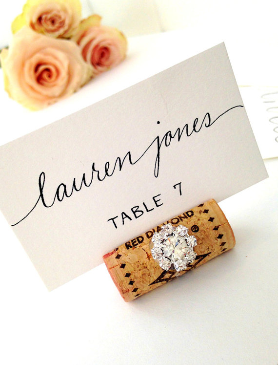 wine wedding place cards