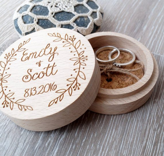 Wood Ring Box by Cork Country Cottage | via Wood Themed Wedding Ideas: http://emmalinebride.com/themes/wood-themed-wedding-ideas/