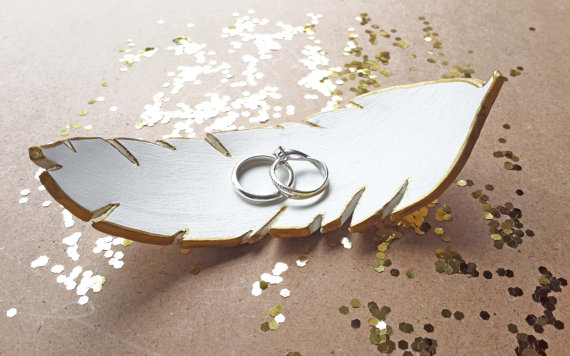 feather ring dish by gildadesign